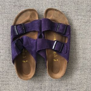 Purple Birkenstock ArIzona Sandals